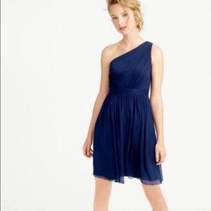 J Crew Navy Silk Chiffon Kylie Formal Dress 41825